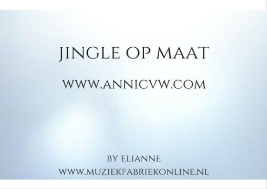 Gezongen jingle op maat Youtube kanaal Annic van Wonderen