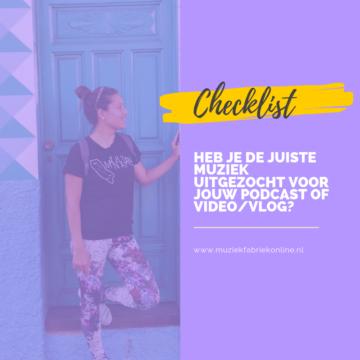 checklist hoe kies je muziek