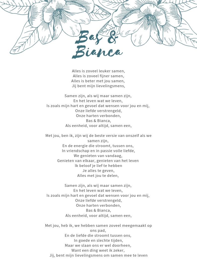 huwelijkslied met naam - trouwlied met naam - liefdeslied met naam