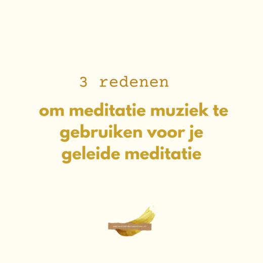 meditatiemuziek voor je geleide meditatie
